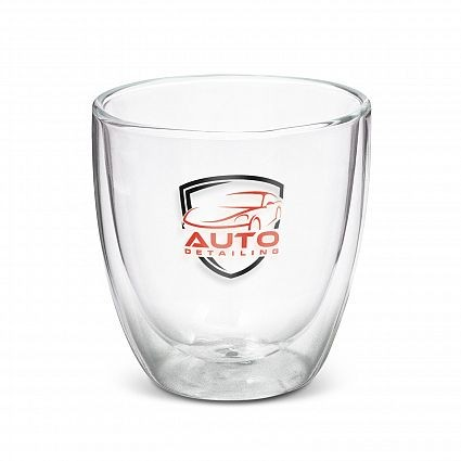 Double Walled Glass Branded