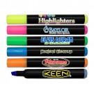 Full Colour Black Barrel Jumbo Highlighters