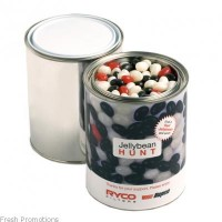Jelly Beans in Paint Tins