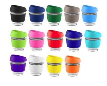 Reusable Glass Coffee Cups 225ml