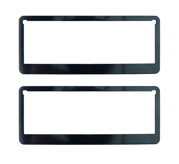 Black Promotional Number Plate Frame