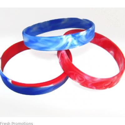 Marbled Silicone Wristbands