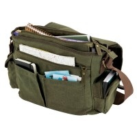 Sustainable Cotton Canvas Messenger Bag