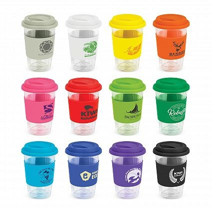 Reusable Glass Coffee Cup Colour Range