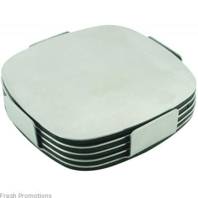 Deluxe Stainless Steel Coaster Set