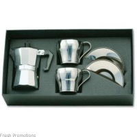 Stainless Steel Coffee Percolator Gift Set