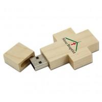 Crucifix Wooden Flash Drive