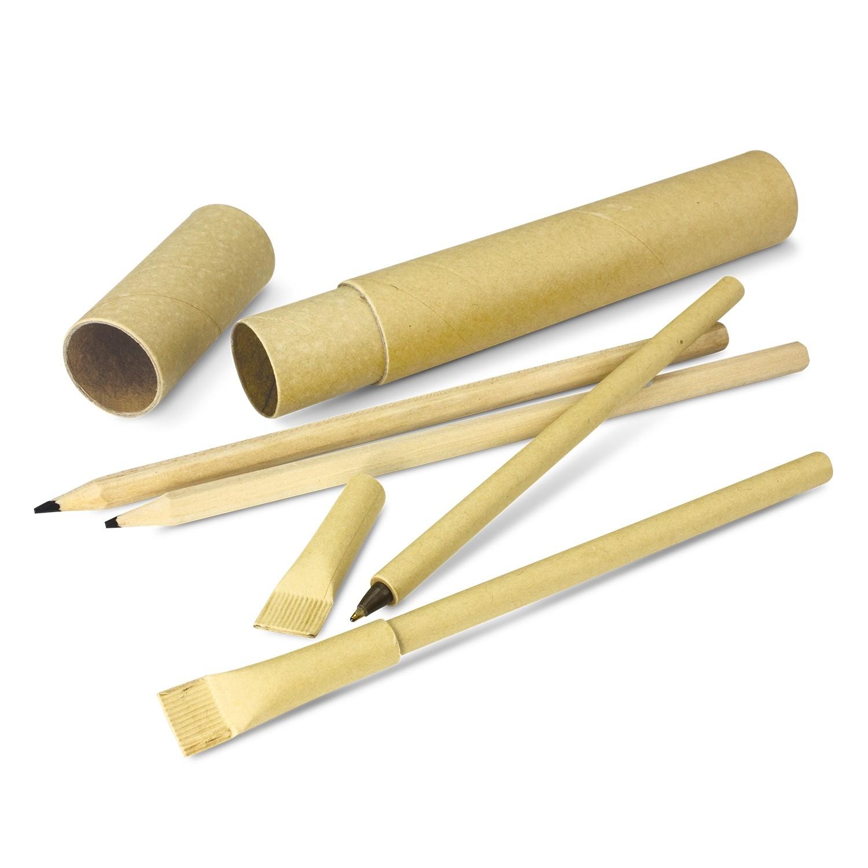 Eco Pen & Pencil Set Contents
