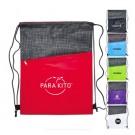 Crosshatch Drawstring Backpack