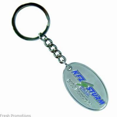 Stamped Metal Tag Key Rings