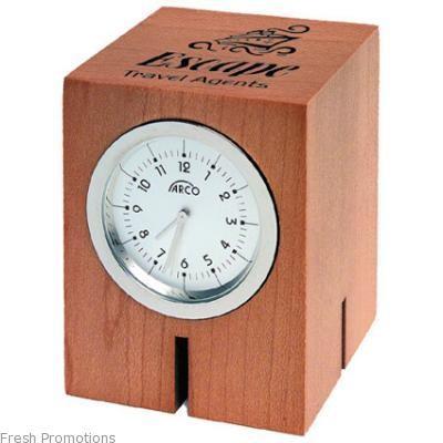 Wood Block Desk Clocks