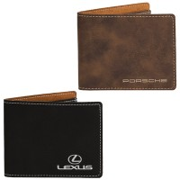 Sueded Slim Fold Wallet