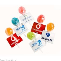 Ball Lollipops With Printed Tags