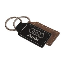 Suede Leatherette Key Tag
