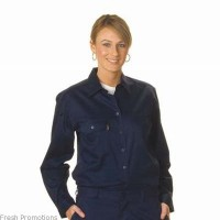 Ladies Cotton Drill Long Sleeve Shirt
