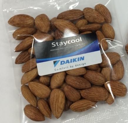 Custom Label Dry Roasted Australian Almonds - 50g Bag