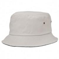 Contrast Brim Bucket Hats