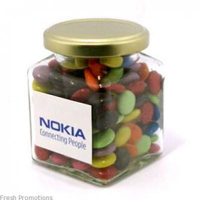 Glass Lolly Jar With Branding