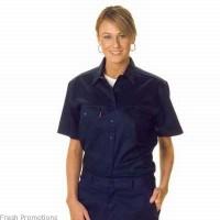 Ladies Cotton Drill Work Shirt