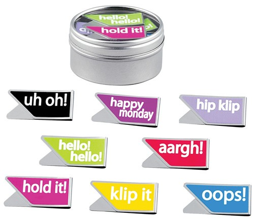 Message Paperclips in Window Gift Tin
