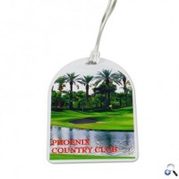 Full Colour Oval Top Golf Tags