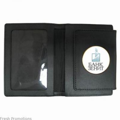 Leather Badge Holder Wallet
