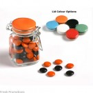 Smarties In Glass Lolly Jars