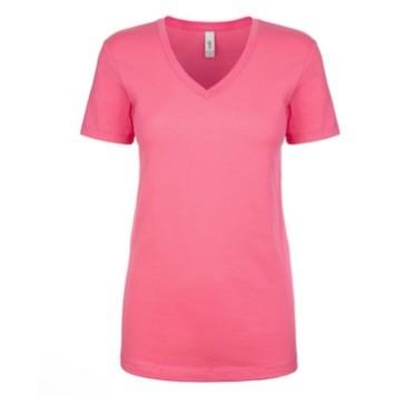Ladies' V Neck Tee Shirts