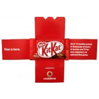 Promotional Kit Kat Card