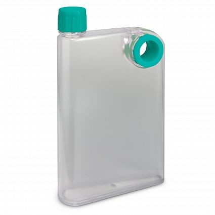 Flat Water Bottle >> Promotional Accent Flat Water Bottle Custom Personalised