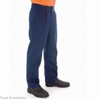 Polyester Cotton Pleat Front Work Trousers
