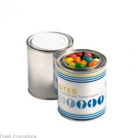 Small Paint Tins Filled With Jelly Beans