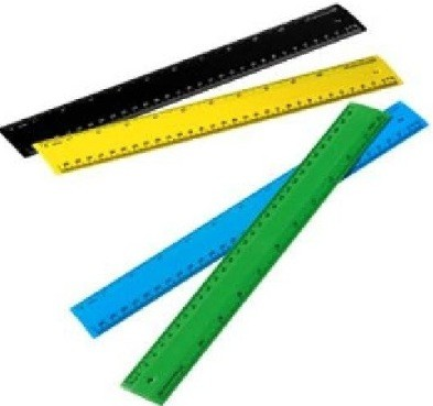 Recycled Plastic Rulers Colour Range