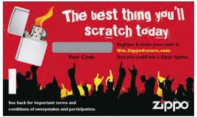 Scratch & Win Cards