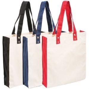 Square Cotton Canvas Tote Bags Colour Range