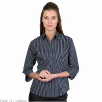 Ladies Stretch Shirt With Three Quarter Sleeves