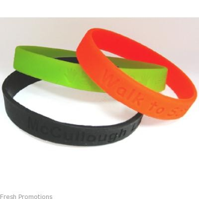 Budget Embossed Wristbands