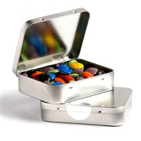 Rectangle Tin With M&Ms