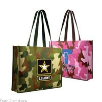 Printed Camouflage Tote Bags