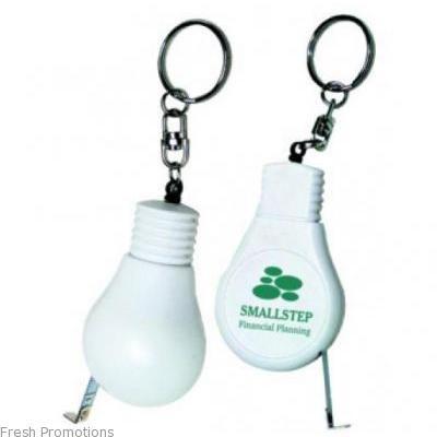 Lightbulb Keyring Tapemeasures
