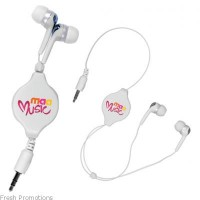 Full Colour Retractable Ear Buds