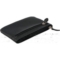 Genuine Leather Zippered Coin Holder