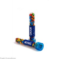 Test Tubes Filled With M&Ms