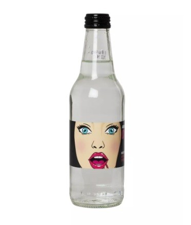 330ml Glass Bottle Custom Label Water With Colour Label