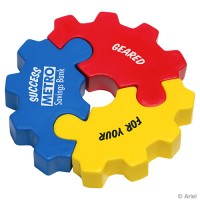 Three Piece Gear Puzzle Stress Toys