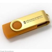 Gold Swivel Memory Sticks