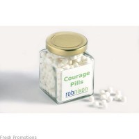 Square Jar With Mints