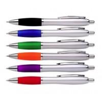 Silver Contrast Ballpoint Pen