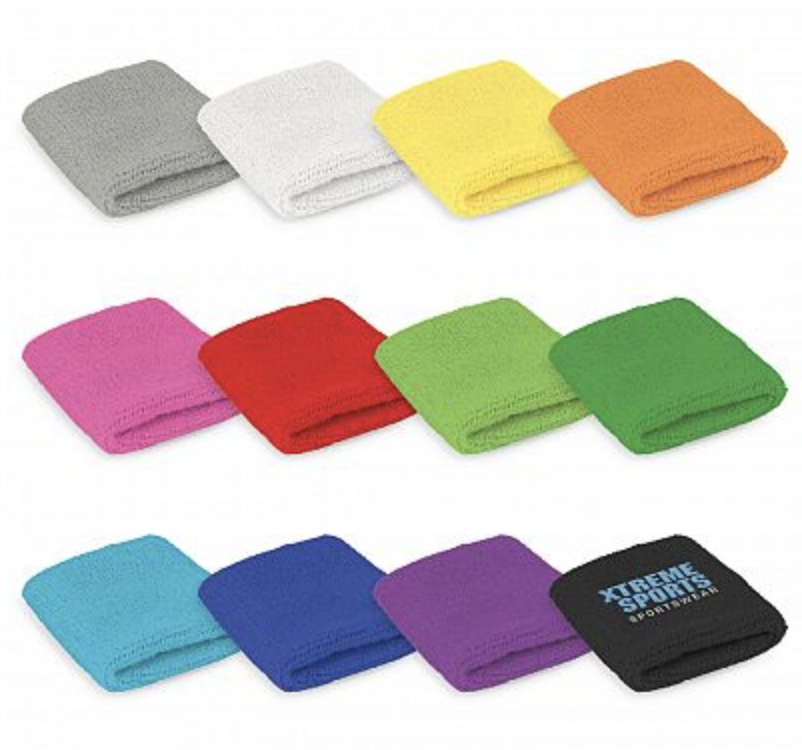 Wrist Sweat Band Colour Range