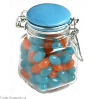 Jelly Beans In Clip Lock Jar